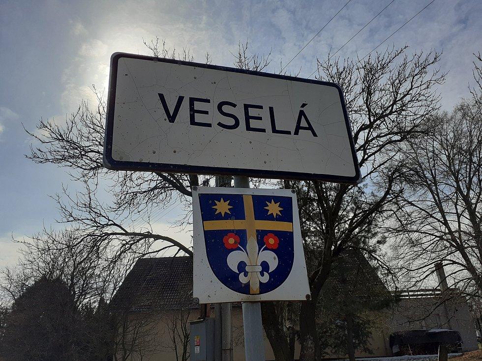 Obec Veselá na Zlínsku.