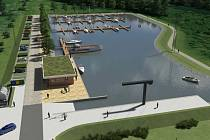 Vizualizace nového přístavu v Hodoníně
