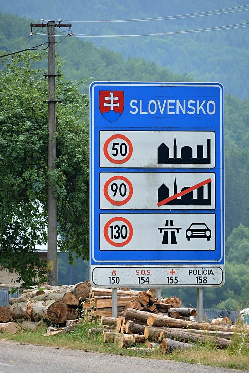 Hraniční přechody se Slovenskem byly v pátek ráno 9. července 2021 opět otevřené. Na snímku přechod Nedašova Lhota.