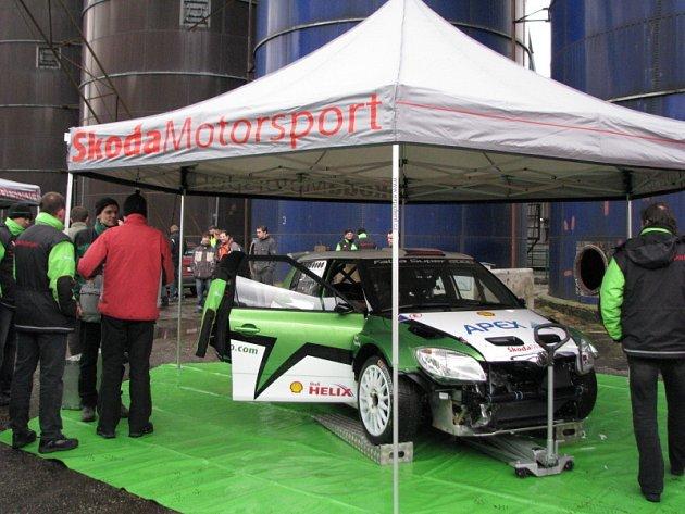 Testování vozu Škoda Fabia S 2000 ve Vlčkové.