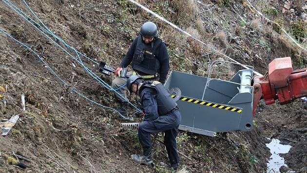 Zásah po výbuchu muničních skladů ve Vrběticích na Zlínsku