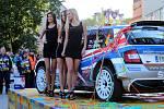 Barum Czech Rally Zlín 2018. Cíl na náměstí Míru.