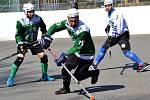 zápas 2. hokejbalové ligy Malenovice - Hodonín 6:3.
