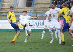 V sobotním 26. kole I. fotbalové ligy prohrál Fastav Zlín (ve žlutém) s Mladou Boleslaví.