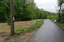 Situace na cyklostezce z Valašských Klobouk do Brumova-Bylnice