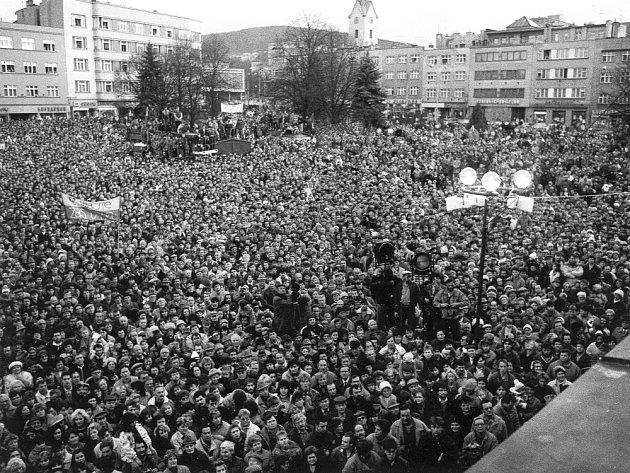 Listopadové náměstí Míru ve Zlíně