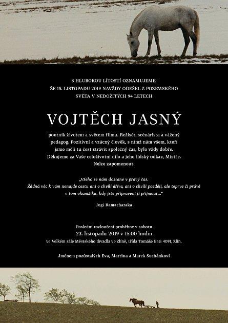 Parte kúmrtí režiséra Vojtěcha Jasného