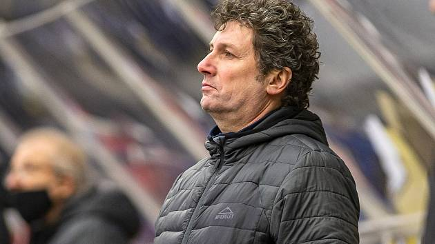 Zlín proti Olomouci. Na snímku trenér Robert Svoboda.