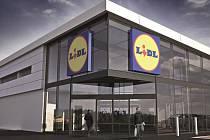 Tak bude vypadat nová nová prodejna Lidl pod Jižními Svahy ve Zlíně.