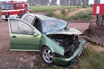 Nehoda zavřela silnici mezi Hulínem a Třeběticemi na několik hodin.