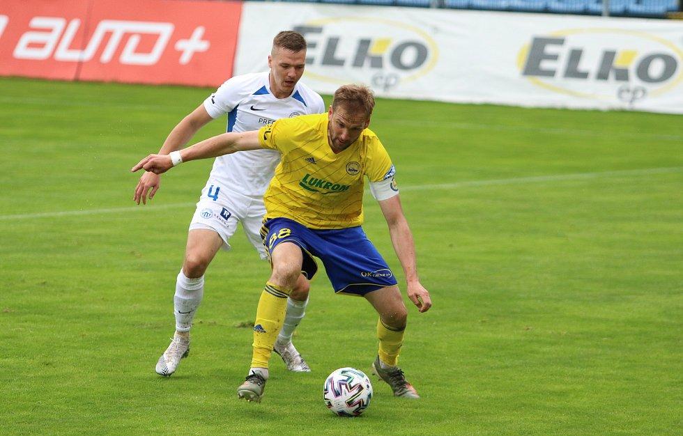 Zlínský kapitán Tomáš Poznar při posledním domácím zápase s Libercem.