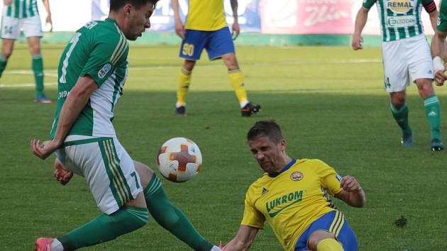 Fotbalisté Zlína proti Bohemians. Ilustrační foto