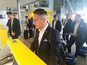 Zlínští fotbalisté ve středu dopoledne odletěli z brněnského letiště do Moldávie