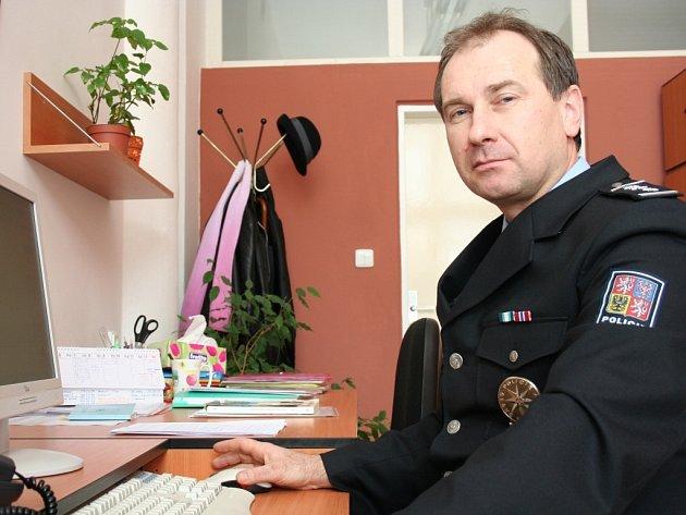 Šéf zlínské policie Bronislav Šabršula při online rozhovoru.