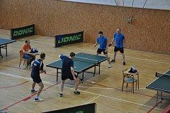 Regionální přebory ve stolním tenise ve Slavičíně.