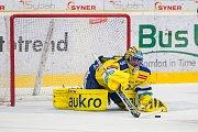 Utkání 42. kola Tipsport extraligy ledního hokeje se odehrálo 21. ledna v liberecké Home Credit areně. Utkaly se celky Bílí Tygři Liberec a Aukro Berani Zlín. Na snímku je brankář Tomáš Štůrala.
