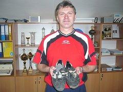 Petr Klhůfek, zlínská fotbalová legenda.