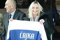 Extraligoví hokejisté Zlína (ve modrém) v rámci 40. kola a oslav 85. výročí založení zlínského klubu v neděli 19. ledna hostili Litvínov.