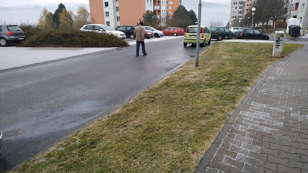 Mrznoucí déšť se sněhem ve Zlíně 3. 12. 2020
