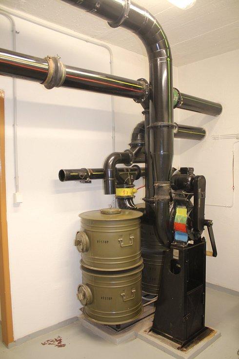 Místnost s filtroventilačním zařízením, které v případě zamoření, ventiluje vzduch, který proudí do bunkru.