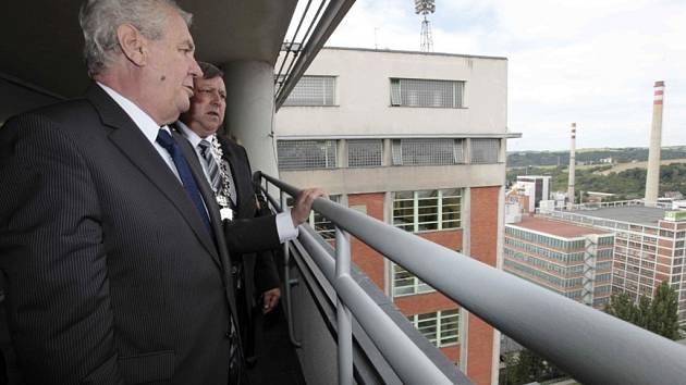 Návštěva prezidenta ČR Miloše Zemana ve Zlíně.