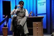 Herec Slováckého divadla Tomáš Šulaj v muzikálu Adéla ještě nevečeřela.