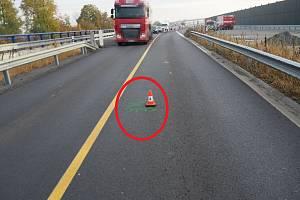 Na snímku je místo střetu označeno červeně.