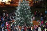 Rozsvěcení vánočního stromu ve Zlíně