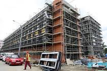 Stavba budovy Centrum polymerních systémů ve Zlíně.