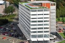 Vizualizace opraveného obchodního domu Prior ve Zlíně z roku 2009.  Ilustrační foto