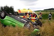 Tři zraněné, z toho dvě děti, si vyžádala ve středu 7. července nehoda u Lukova na Zlínsku.