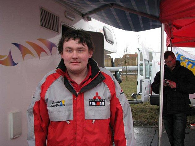 Jindřich Hrubý, mechanik závodního týmu.