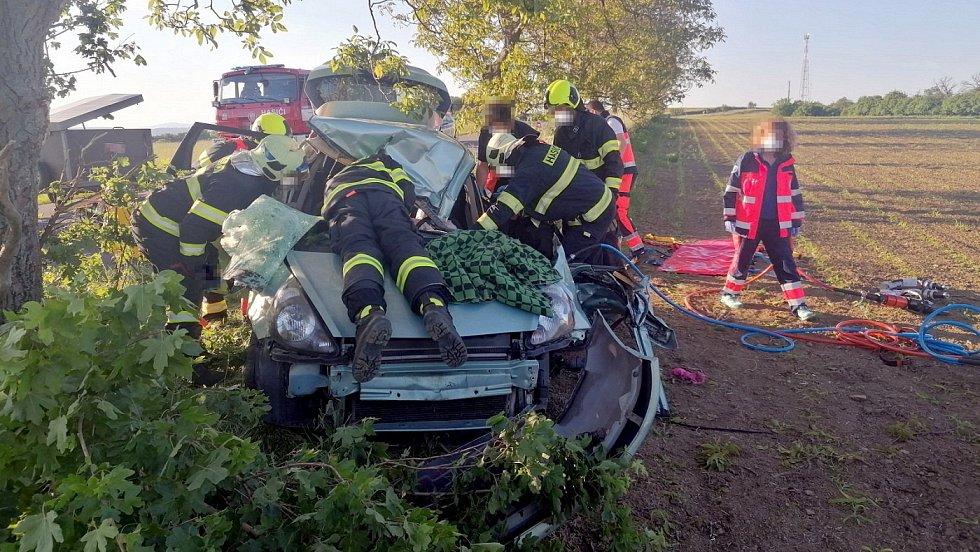 Nehoda u Velkého Ořechova na Zlínsku, 4.6.2021