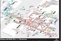 Schéma sítě MHD Zlín - Otrokovice
