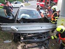 Nehoda na křižovatce ulic Okružní a Luční ve Zlíně