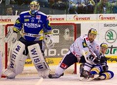 Utkání 52. kola Tipsport extraligy ledního hokeje mezi týmy Bílí Tygři Liberec – PSG Zlín.