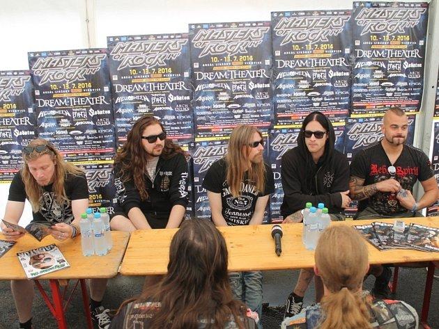 Masters of Rock: tisková konference švédských Sabaton