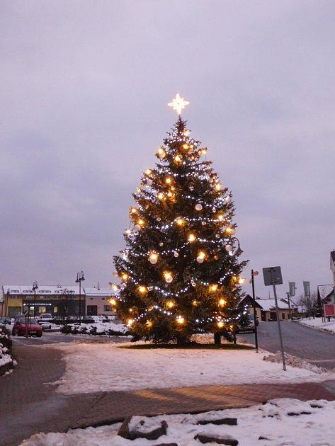 Vánoční strom Slavičín