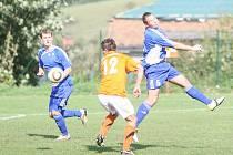 Fotbal Lípa (modří). Ilustrační foto
