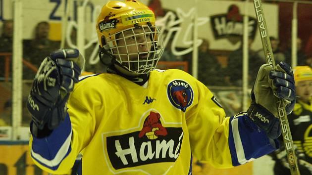 Slovenský hokejový útočník Marek Zagrapan je nejmladším hokejistou, který nastoupil za Zlín a zároveň i skóroval. Foto: archiv Deníku