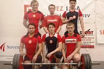Na snímku úspěšný kolektiv Zlína – zleva stojí Ladislav Hořák, Josef Stuchlík a Petr Martínek, zleva dole Lukáš Bohun, Marek Skřivánek a Lukáš Hofbauer.