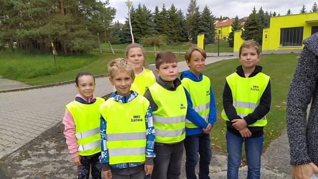 Školáci ze Žlutavy se zúčastnili akce Dětská policie