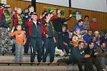 Zlínské volejbalisty povzbuzovali také fanoušci z Černé Hory u Brna, kteří předtím hráli ve Zlíně fotbalový turnaj Press Cup.