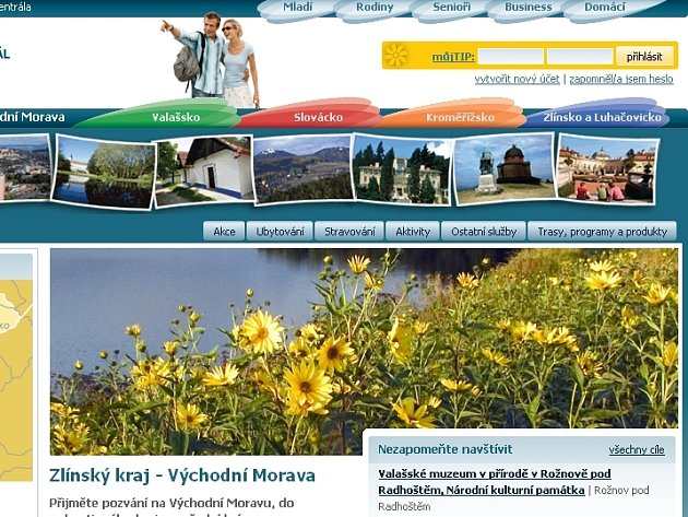 Nový turistický web