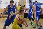 Basketbal, I. liga mužů, Zlín (žlutí) Ilustrační foto