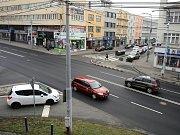 Křižovatka ulic Dlouhá a Zarámí ve Zlíně.