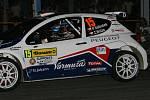 První desítka úvodní noční rychlostní zkoušky Barum Rally Zlín