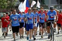 Devátý ročník Cykloběhu proti drogám odstartoval v pondělí 13. června na zlínském náměstí Míru.