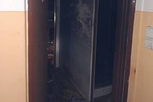 Požár ve zlínském paneláku v ulici 2. května