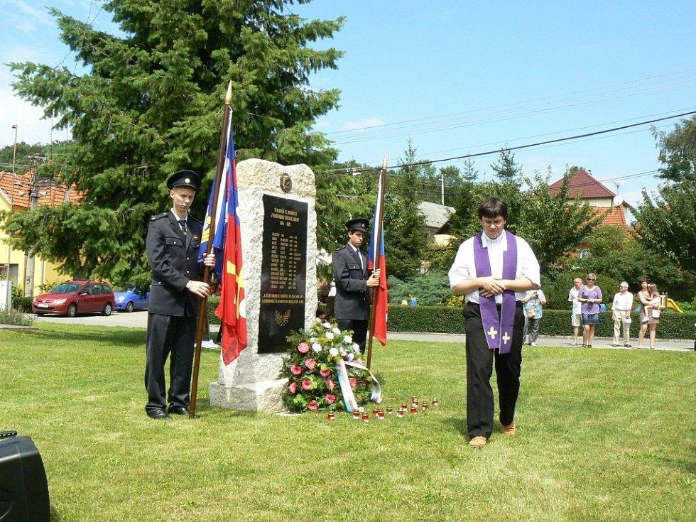 Odhalení památníku 1. světové války v Hřivínově Újezdu